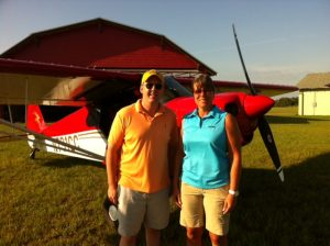 Connie White getting her tailwheel endorsement