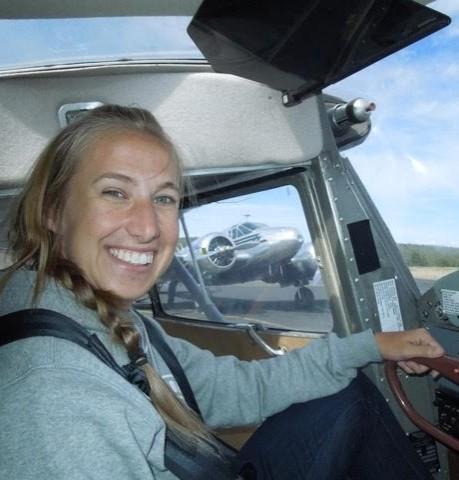 Brittany Reinbolt: Fun working on a tailwheel endorsement!